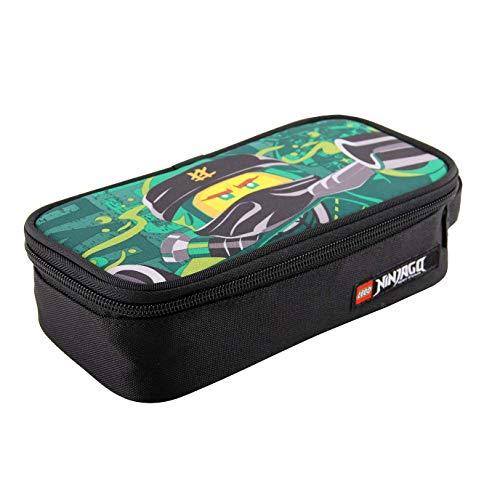 Lego Bags Stiftebox, Faulenzer quadratisch, Schlamper Box mit Lego NINJAGO Motiv Energy, Federmäppchen ca. 21 cm