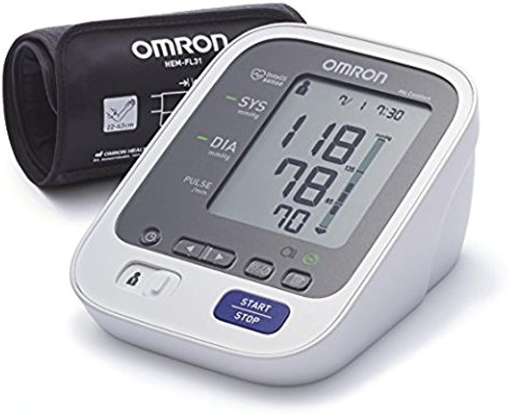 Omron, healthcare m6 comfort, misuratore pressione sanguigna da braccio,Schermo Grande W26902