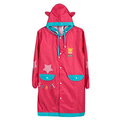 Raincoat Raincoat Imperméable de Toddler Lovely Unisexe Kid, Rose rouge