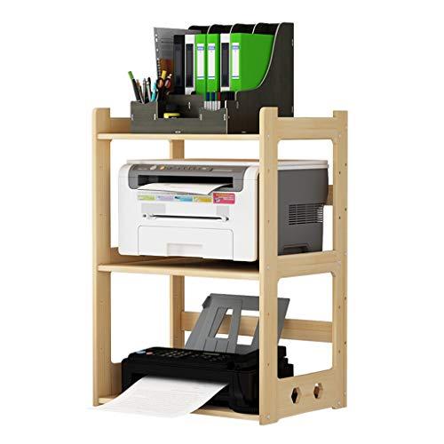 Opbergkast van hout, grote capaciteit, multifunctionele printer, plank, drie-dier-opbergkast, instelbare boekenkast, geschikt voor thuis en op kantoor, kantoor 43*28*69cm