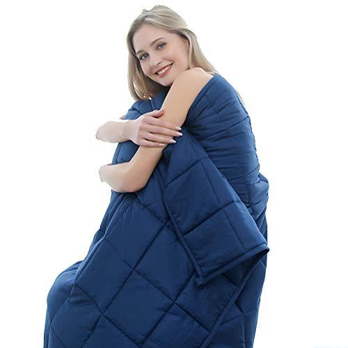 TINE Sicherheit Decken Weighted Blanket Schlaftherapie Hilfe, Marineblau 152 * 203Cm (6.8Kg) 6080-15Lbs Kompatibel Mit Easy-Wash-Abdeckung Für Erwachsene Für Kinder  ,104 * 152 cm(3.2KG