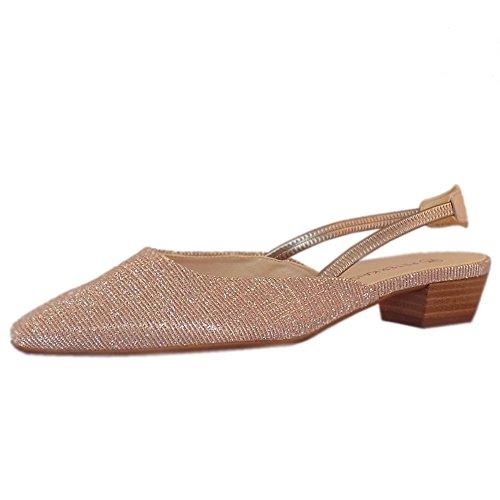 Peter Kaiser Castra Frauen Dressy Low Heel Sandalen in Pulver schimmern Powder SHIMR 36
