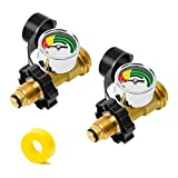 2 Pack Upgraded Gas High-Pressure Gauge Propane Tank Gauge with POL Connection for 5-100lb Propane Tank, Stay Accurate at Different Temperatures