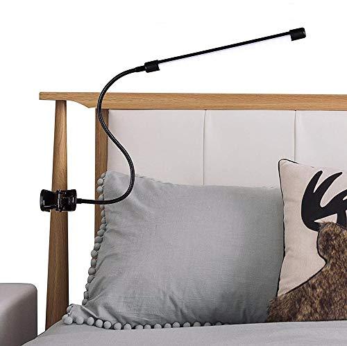 ZGNB Lámpara-Led-Escritorio con Pinza Flexo Brazo 360° Flexible Lampara de Mesa con Cable de alimentación USB Luz para Lectura Pinza 3 Niveles de Luminosidad