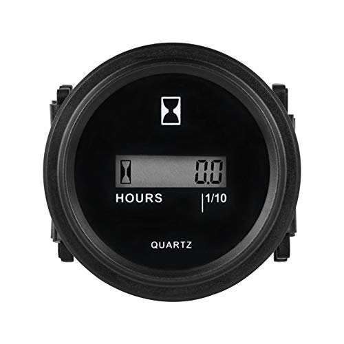 Runleader RL-HM005 DC AC Hour Meter with Digital LCD Display for Boat Tractor Generator Engine Mower Fork Light CAT Paramotors Microlights Marine Engines Cleaners and Chainsaws (DC4.5-90V)