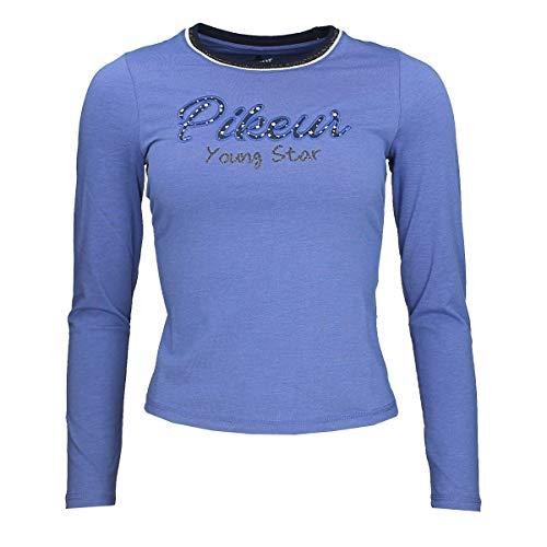 Pikeur Kinder Langarmshirt Tamina Classic Collection Herbst-Winter 2019/2020, Cyan Blue, 152
