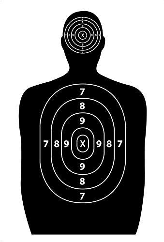 Discovergreen 50 Pack 17x25-inch Paper Silhouette Shooting Targets for Firearm, Rifle, Gun, Pistol, BB Guns, Airsoft, Pellet Gun, Air Rifle
