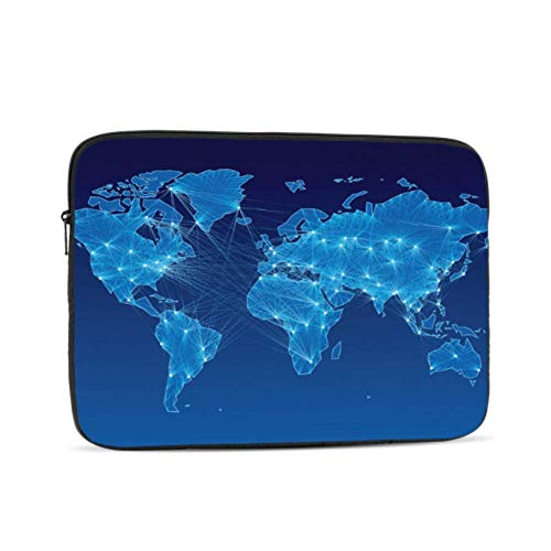 Mac Pro Case Cartoon Funny World Map Mac Book Accessories Multi-Color & Size Choices 10/12/13/15/17 Inch Computer Tablet Briefcase Carrying Bag