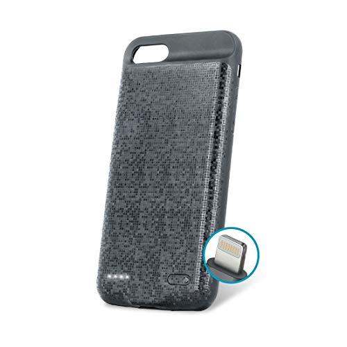 Forever Accu Case 2500 mAh voor iPhone 6 / 6s, draagbare oplader extra batterij externe mobiele telefoonhoes, powerbank in case, 4 LED-display