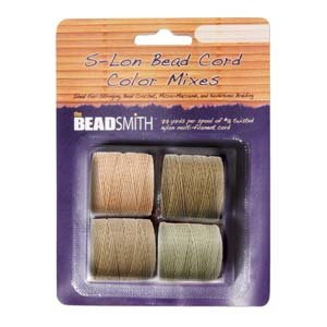 4 Spools Super-lon #18 Cord Ideal for Stringing Beading Crochet and Micro-macram Jewelry Compatible with Kumihimo Projects S-lon Warm Mix
