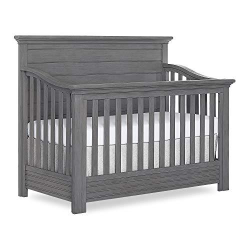 Evolur Waverly 5-in-1 Full Panel Convertible Crib in Rustic Grey, Greenguard Gold Certified