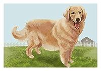 デジタル油絵 数字油絵 _ ゴールデンレトリバー盲導犬ペット犬動物猟犬 _ のプレゼント 大人の子供手塗 _ Diyりデジタル油絵 でペイント ホームデコレーション _ 40X50Cm _ 【ギフト】木製フレーム