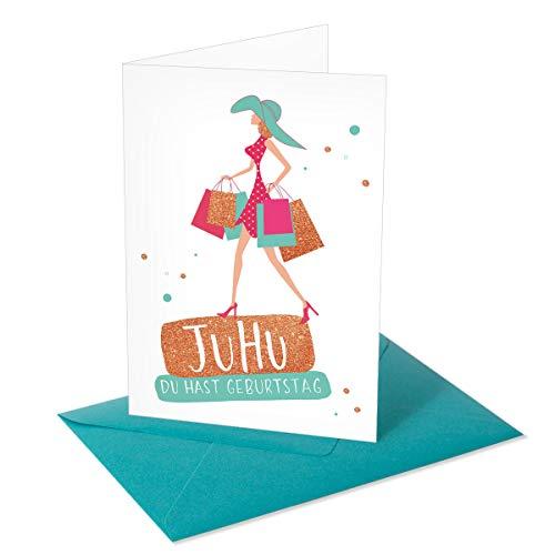 Chica Chica/Grußkarte/Glückwunschkarte zum Geburtstag/Chica Shopping