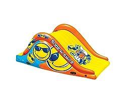 top rated WOW Water Sports Slide N Smile 9ft Floating 2-Lane Water Slide | 19-2210 2021