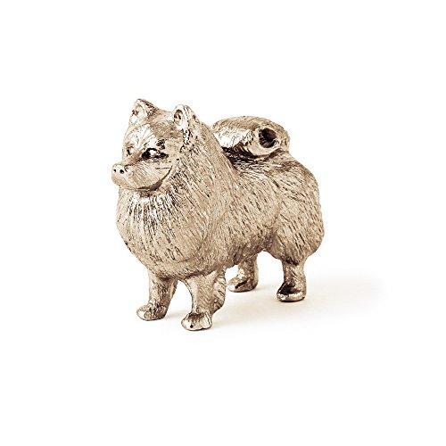 Keeshond Made in UK, Collezione Statuetta Artistici Stile Cani