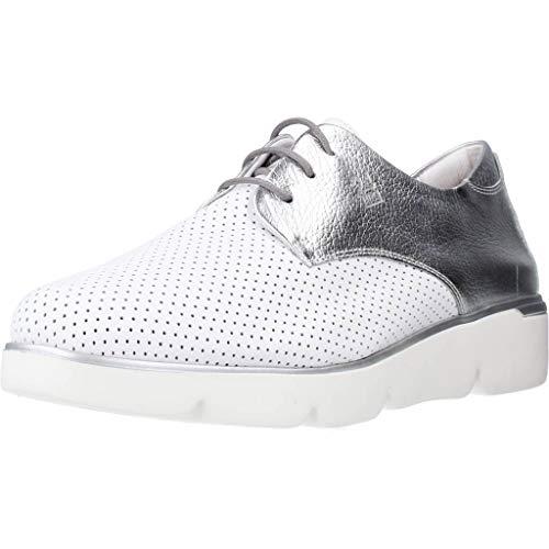 24 Horas Zapatos Cordones Mujer 24888 para Mujer Blanco 38 EU