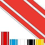 ADATECH Pegatina lineas Racing Vinilo Adhesivo Sticker tunning Film para Coche Rojo