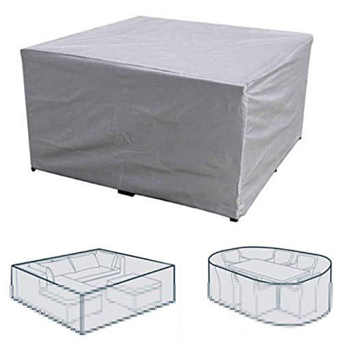 CYSJX Funda para Muebles De Jardín, 420D Tela Oxford Revestimiento De PU, Cubierta De Exterior Funda Protectorar Impermeable, Anti-UV a Prueba De Viento, Lluvia Y Nieve