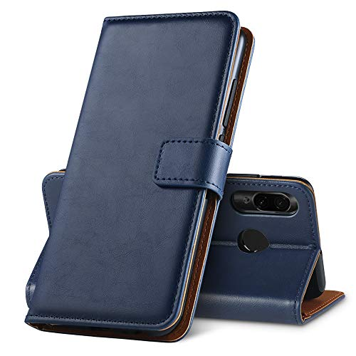 GeeRic Funda Compatible para Xiaomi Redmi Note 7, PU [Función de Soporte] [Ranura para Tarjeta] [Imán] [Antideslizante] Libro Funda Compatible para Redmi Note 7 Azul