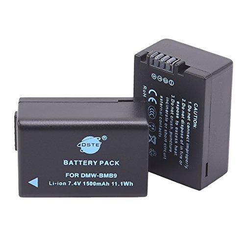 DSTE® 2x DMW-BMB9E Li-ion Batería para Panasonic LumiMC-FZ47 DMC-FZ48 DMC-FZ60 DMC-FZ62 DMC-FZ70 DMC-FZ72 DMC-FZ100 DMC-FZ150 LEICA V-Lux2 LEICA V-Lux3 Cámara come DMW-BMB9 DMW-BMB9PP BP-DC9