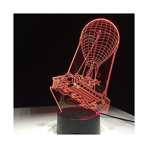 Chariot 3D Color De Luz Camel Toque Luminoso USB Lámpara De Lava Ilusión Iluminación Juego Ventilador Luz De Noche Led
