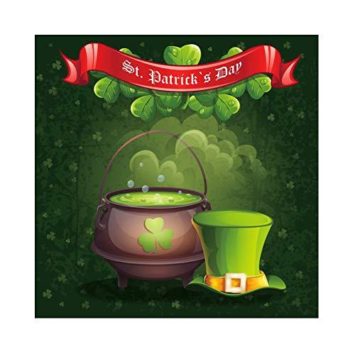 Yeele 2,5x2,5m St Patrick's Day Fotografie Hintergrund Kleeblatt Gifttopf Hut Hintergrund Magischer Rauch Tapete Foto April Festival Feier Feiertagsplakat Porträt Requisiten