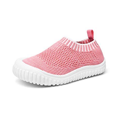 Runto Kinder Hausschuhe, Unisex Anti-Rutsch Sohle Kleinkinder Schuhe Baby Slipper Jungen Mädchen-Rosa 23