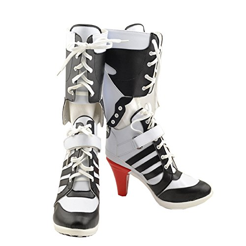 Xcoser Chaussures Film Shoes Costume Cosplay PU Genou Haute Bottes Boots Accessoires 42