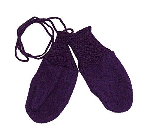 Disana Disana Walk-Handschuhe Schurwolle kbT ((01) 5-12 Monate, Pflaume)