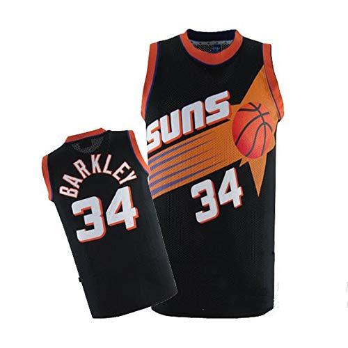 Charles Barkley # 34, Camiseta De Baloncesto NBA para Hombre, Retro Jersey Swingman Basketball Camisetas, Chaleco De Gimnasia Top Deportivo Ropa, S-XXL, Z255MK (Color : A, Size : S)