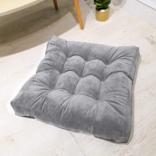 Bubugh Piano Cuscino Quadrato Rotondo Sedile Cuscino solidificato Vicino al Sedile Sedile Solid Thick Tuft Cuscino Elastico Pad Yoga Soggiorno Divano Balcone Tatami Pad (Grigio Quadrato)