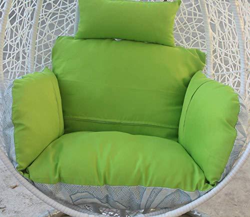 BANNAB Cesta Colgante Cojines para sillas Cojines Gruesos para sillas Columpios sin Soporte Patio Huevo Cojines para sillas Hamaca para Exteriores-Verde Claro Individual