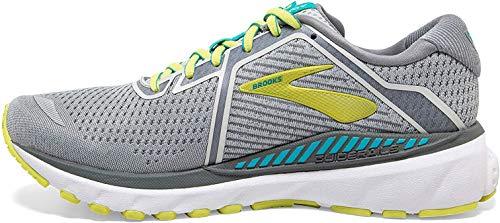 Brooks Women's Adrenaline Gts 20 Running Shoes, Grey Limeade Blue Bird, 3 UK (35.5 EU)