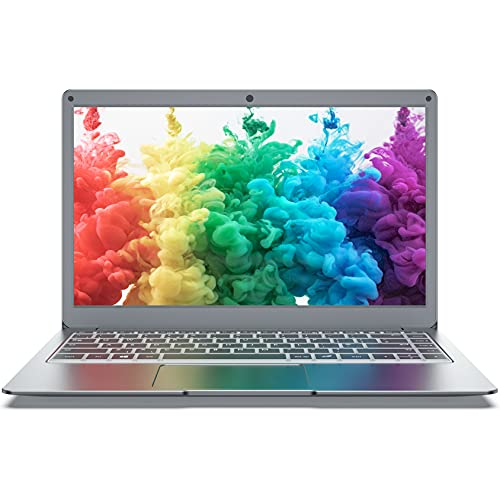 Jumper Ordenador portátil de 13,3 pulgadas Full HD, 8GB+128GB ordenador portátil, Intel cuatro núcleos procesador Laptop, Windows 10 PC, Bluetooth 4.2, doble banda WLAN, memoria ampliable