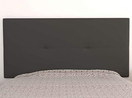 LA WEB DEL COLCHON Cabecero de Cama tapizado Acolchado Juvenil Julie 115 x 55 cms. para Camas de 80, 90 y 105 cms. Polipiel Color Gris Ceniza. Incluye herrajes para Colgar con regulador de Altura