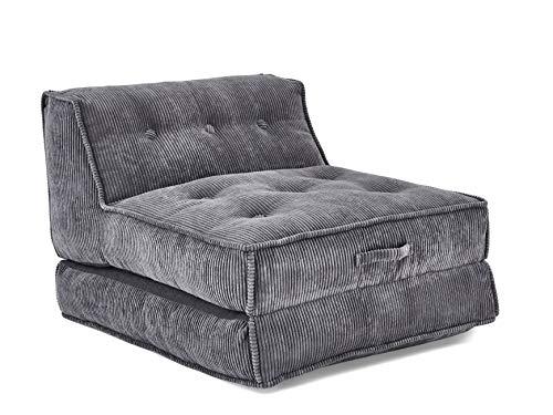 Atlantic Home Collection XXL Liegesessel PIA mit hochwertigem Cordbezug Sessel, grau, 106x125x86 cm...