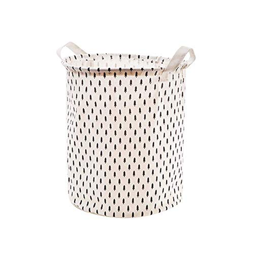 15.7 inch laundry basket, dirty clothes, large linen and cotton laundry basket, black and white polka dot, laundry bucket, toys, basket organizer bag
