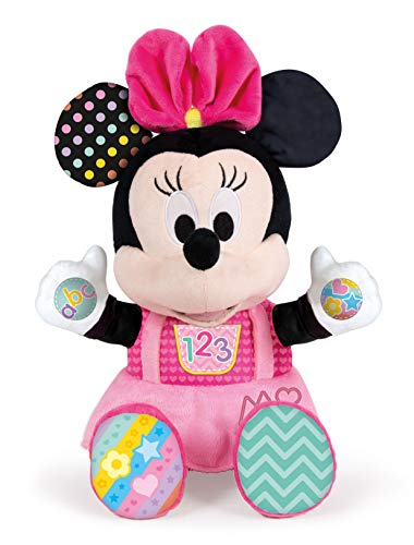 Clementoni Disney Baby Minnie Play and Learn Talking Plush Plush, Multi-Colour, Standard, 17304