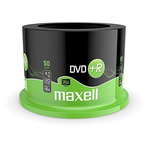Maxell DVD+R 4.7GB 16x DVD-Rohlinge 50er Spindel, 275640.59.GB