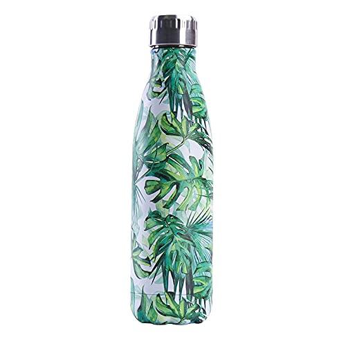 Botella de agua de verano de acero inoxidable de 500 ml, frasco de vacío portátil a prueba de fugas, sin BPA, 12 horas, botella de bebida deportiva fría y caliente para gimnasio, hogar, exterior 15