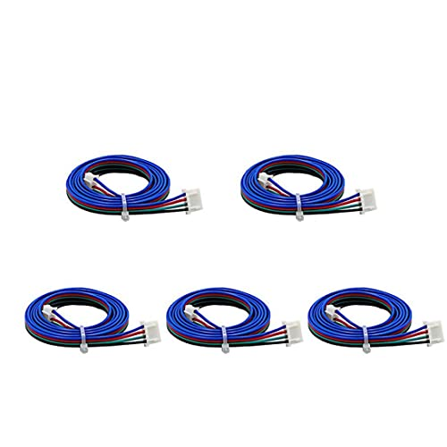Stepper Motor Cable XH2.54 Terminal Connector 4pin to 6pin 1M for 3D Printer 42mm Stepper Motor 5PCS Durable