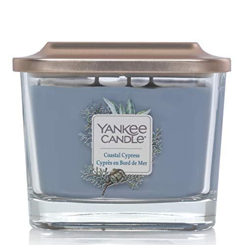 Yankee Candle Elevation Collection piattaforma con coperchio, con stoppini, quadrato, candela profumata,: CIPRO