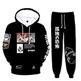 HUANHE Hip Hop Style Anime Naruto 3D Pullover Pantalones Casuales Sudadera con...