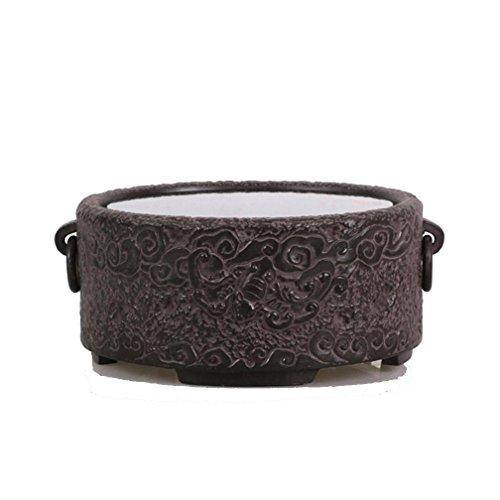 Dedicado tetera eléctrica de cerámica de la estufa vieja de la roca de barro cocido material Escultura Agua Té Té Accesorios Bandeja Silencio