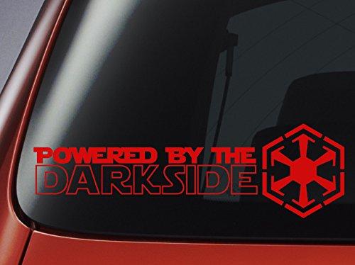 Adhesivo «Powered by The Darkside» con Logotipo de los Sith Inspirado en Star Wars para Coche, Ventana, Pared u Ordenador portátil