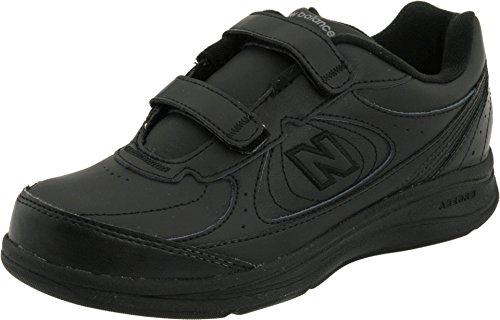 New Balance Women's 577 V1 Hook and Loop Walking Shoe, Black/Black, 10 N US