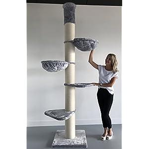 Kratzbaum Grosse Katzen stabil XXL Maine Coon Tower Hell Grau katzenkratzbaum für Maine Coon große katzenbaum Deckenhoch… 3