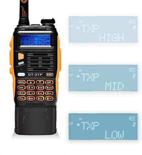 BAOFENG GT-3 TP Mark III Handfunkgerät 8W Amateurfunk UHF/VHF Dual Band Walkie Talkie mit 3800mAh Batterie