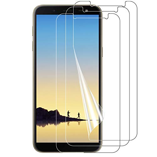VICKSONGS Schutzfolie für Samsung Galaxy J6 2018, 3 X HD Klar Bildschirmschutz Folie für Samsung J6 2018 (Nicht Glas) Anti-Fingerabdruck mit Samsung J6 2018 handyhülle Bildschirmfolie Screen Protector