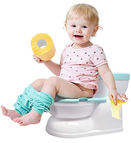 Real Feel Potty Chair - Removable Seat for Independent Use, Virtual Flushing & Cheering Sounds, & Disposable Liners - by Jool Baby